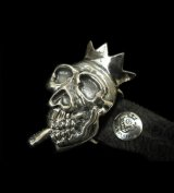 Smorking Skull & Crown Belt Buckle
