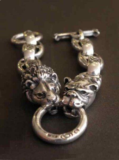 画像5: Lion & Old bulldog With H.W.O & Anchor Links Bracelet