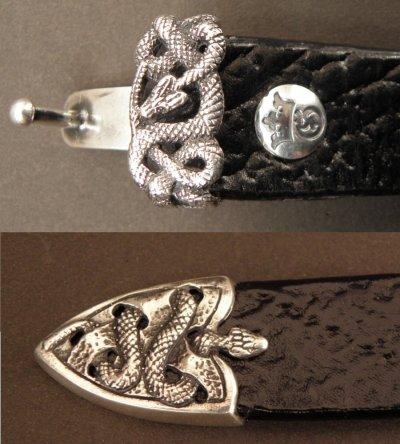 画像4: Snake Loop & Tip Leather Bracelet