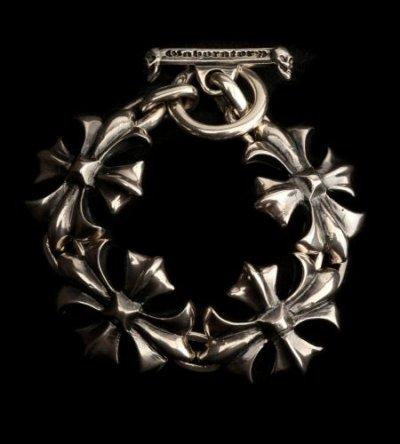 画像1: Gothic Cross Links Bracelet