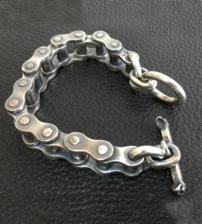 画像2: Bike Chain Bracelet (Heavy wide small)