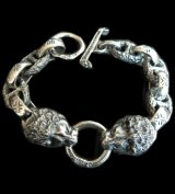 2Lions With H.W.O & Chiseled Anchor Links Bracelet