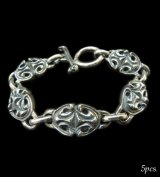 All Sculpted Oval Links Bracelet