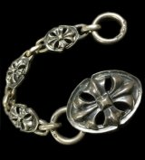 Old Cross Oval With Small Old Cross Oval Links Bracelet