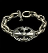 Battle-Ax ID With Master Small Oval Links Bracelet