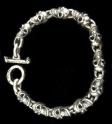 Quarter 11 Skull Links Bracelet