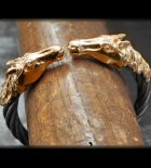 他の写真1: 10k Gold Horse Cable Wire Bangle