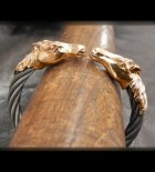 他の写真3: 10k Gold Horse Cable Wire Bangle