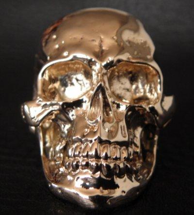 画像2: 10k Gold Large Skull Ring with Jaw