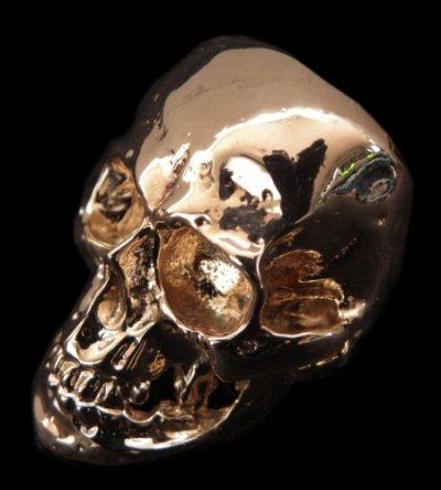 画像1: 10k Gold Large Skull Ring with Jaw
