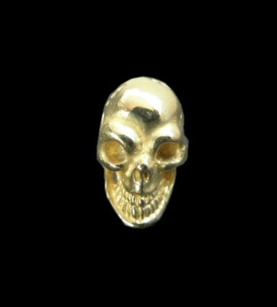 画像1: 18k Gold Twelve Small Skull Pierce