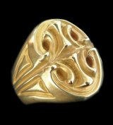 10k Gold Sculpted Oval Signet Ring
