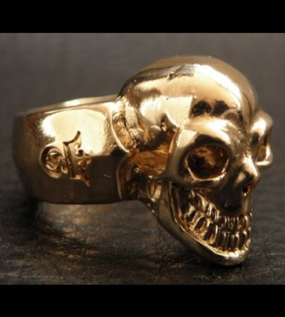 画像2: Gold Single Skull Ring