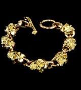 18k 7 Skull Bracelet