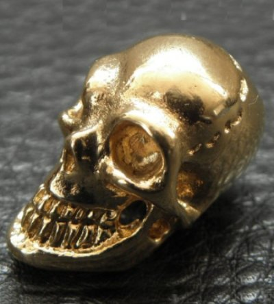 画像2: 18k Gold Single Skull Beads