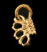 18k Gold 1/128 Mini Knuckle Duster Pendant