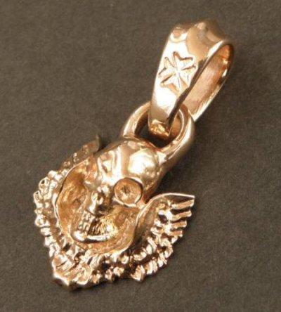 画像4: 10k Quarter Skull Wing Pendant