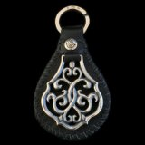 Leather Backed Arabesque Key Holder