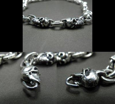 画像3: Quarter Skull & Half Small Oval Links Necklace