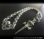 他の写真2: 2skull & skull wing with small oval links & key ring necklace