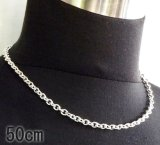 3.9Chain & 1/16 T-bar Necklace (Platinum Finish)