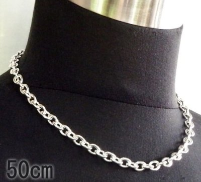 画像1: 4.7Chain & 1/8 T-bar Necklace (Platinum Finish)