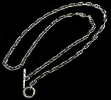 4.5mm Marine Chain & 1/16 T-bar Necklace