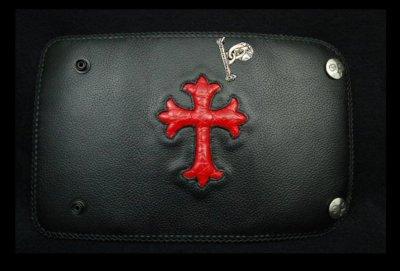 画像1: Crocodile Cross Inlay Buffalo Long Wallet