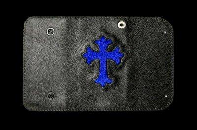 画像1: Stingray Cross Inlay Buffalo Long Wallet