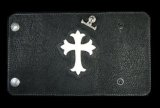 Stingray Cross Inlay Shark Long Wallet