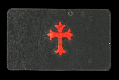 画像1: Crocodile Cross Inlay Shark Long Wallet