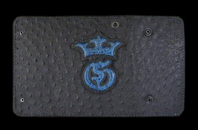 画像1: Frog G&Crown Inlay Ostrich Long Wallet