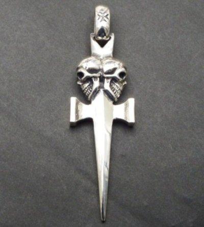 画像2: Double Skull Dagger Square Bottom & H.W.O Pendant