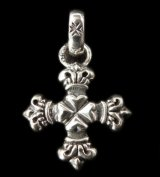 Half 4Heart Crown Short Cross With H.W.O Pendant