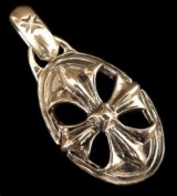 Cross Oval With H.W.O Pendant