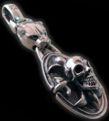 Panther & Cross Oval On Skull Pendant