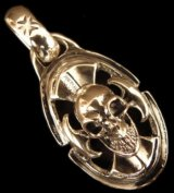 Skull On Battle-Ax With H.W.O Pendant