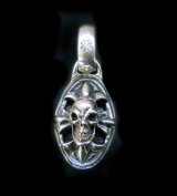 Quarter Cross Oval On Skull With H.W.O Pendant
