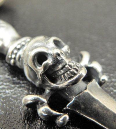 画像2: One third Skull On Dagger Pendant With H.W.O