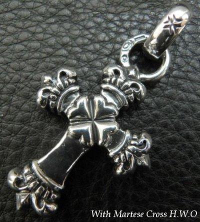 画像2: One Eighth Long 4 Heart Crown Cross With H.W.O Pendant