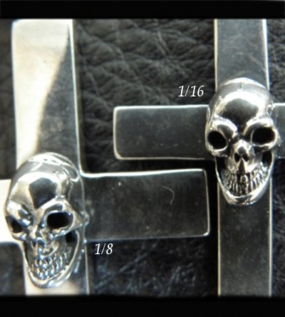 画像2: Skull On Plain Cross Pendant [1/8 , 1/16]