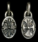 Cross Oval & Battle-AX Oval Reversible Pendant