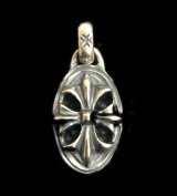 Half Cross Oval Pendant