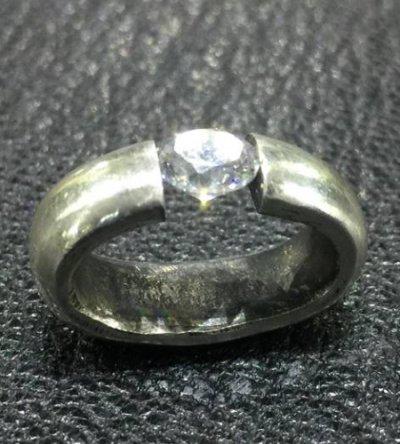 画像1: ZAZA Diamond Line Floating Diamond H.W.O Pendant