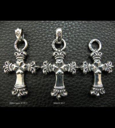 画像4: One Eighth Long 4 Heart Crown Cross Pendant
