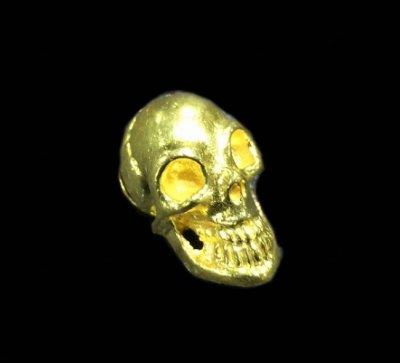 画像1: 18K Gold Skull Pins