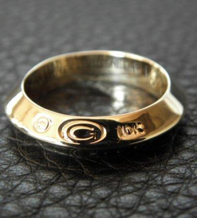 画像2: 10k Gold Quarter Triangle Wire Bangle Ring