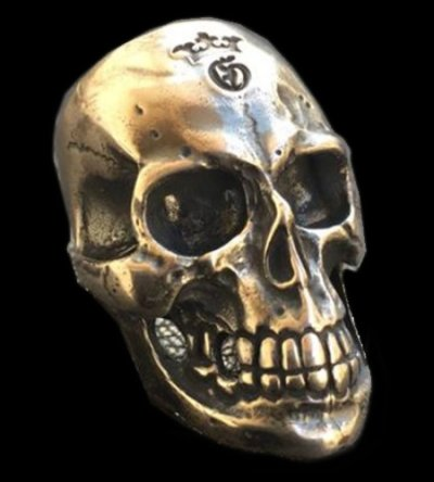 画像1: Large Skull Ring with Jaw 3rd generation