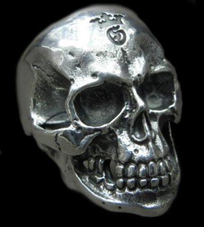 画像1: Large Skull Ring with Jaw 2nd generation