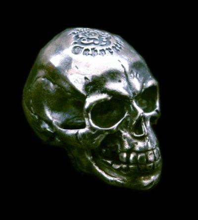 画像1: Medium Large Skull Full Head Ring